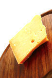 Edam cheese on wood Royalty Free Stock Photo