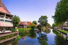 Edam Holland with canal and buildings royalty free stock images