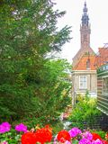 Edam. Picturesque channel of Edam in Netherlands stock image