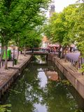 Edam. Picturesque channel of Edam in Netherlands stock photography