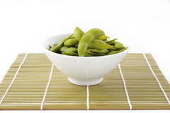 Edamame bean on bowl Royalty Free Stock Images