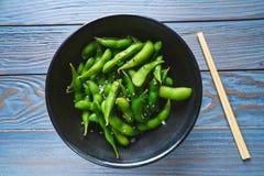 Edamame fresh soya beans immature soybeans Royalty Free Stock Photography