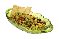 Edamame Soy Bean Salad Crackers Royalty Free Stock Images