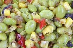 Edamame Soy Bean Salad up Close Royalty Free Stock Image