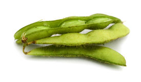 Edamame soy beans shelled and pods Stock Photo