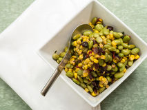 Edamame or Soybean Salad with Roasted Corn Stock Image