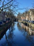Edamerkanal, Amsterdam Arkivbilder