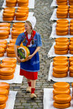 Edammer kaasmarkt in Gouda Royalty-vrije Stock Foto