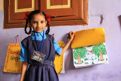 Edcation femminile India di educazione primaria Immagini Stock