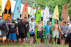 Eddie Aikau traditional hawaiian opening ceremony Stock Image