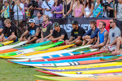 Eddie Aikau traditional hawaiian opening ceremony Royalty Free Stock Image