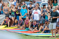 Eddie Aikau traditional hawaiian opening ceremony Stock Photography
