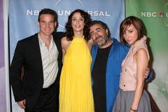 Eddie McClintock, Juana Kelly, Allison Scagliotti, Saul Rubinek Foto de archivo libre de regalías