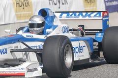 Eddie McLurg in einer Formel 1 der Pfeile A18 stockfoto