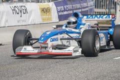 Eddie McLurg in einer Formel 1 der Pfeile A18 lizenzfreie stockbilder