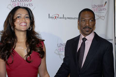 Eddie Murphy and Tracey Edmonds on the red carpet. Stock Photo
