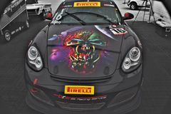 Eddie. The Porsche at barber race track Royalty Free Stock Image