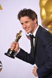 Eddie Redmayne. LOS ANGELES, CA - FEBRUARY 22, 2015: Eddie Redmayne at the 87th Annual Academy Awards at the Dolby Theatre, Hollywood Royalty Free Stock Image
