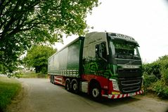 Eddie Stobart Lorry. Called Pamela Alison with curtained trailer. Eddie Stobart is one of the largest haulage companies in the UK and all their lorries have Stock Photography