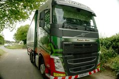 Eddie Stobart Lorry. Called Pamela Alison with curtained trailer. Eddie Stobart is one of the largest haulage companies in the UK and all their lorries have Royalty Free Stock Photography