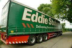 Eddie Stobart Lorry. With curtained trailer. Eddie Stobart is one of the largest haulage companies in the UK and all their lorries have female names Royalty Free Stock Image