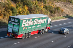 Road transport.Eddie Stobart lorry on the road stock photos