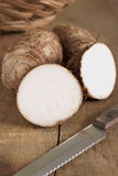 Eddoe a tropical root vegetable Royalty Free Stock Photo