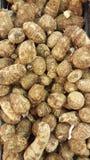 Eddoes. Tropical vegetable pile Stock Photos