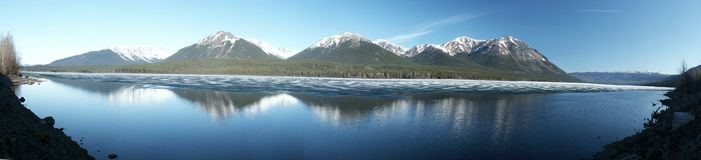 Eddontenajon Lake. Near Cassiar Highway (180 Degree Panorama) - British Columbia Stock Images