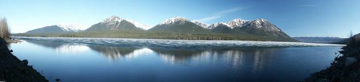 Eddontenajon Lake. Near Cassiar Highway (180 Degree Panorama) - British Columbia stock images