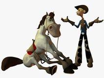 Eddy en de Sheriff stock illustratie