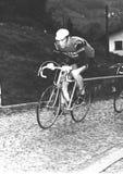 Eddy Merckx à la visite de recyclage de l'Italie Images libres de droits