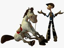 Eddy and the Sheriff. 3D Render stock illustration