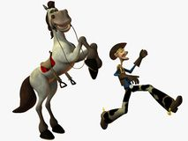Eddy and the Sheriff. 3D Render royalty free illustration