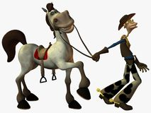 Eddy and the Sheriff stock illustration