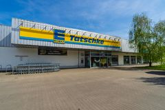 Edeka超级市场 Edeka小组是最大的德国超级市场公司 免版税库存照片