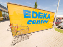 EDEKA center shopping cart Royalty Free Stock Image