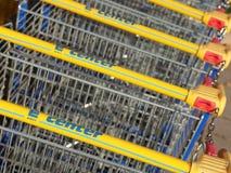 Edeka shopping carts Stock Photography