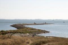 Edele, pier bij de kust van de Oostelijke Schelde Royalty-vrije Stock Fotografie