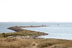 Edele, pier bij de kust van de Oostelijke Schelde Royalty-vrije Stock Foto