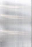 Edelstahl, geschlossenes Metalltürdetail, Innen Stockfoto