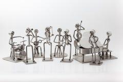 Edelstahl Jazz Band stockbild