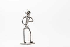 Edelstahl Jazz Saxophone stockfotografie
