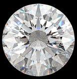 Edelstein: Draufsicht des runden Diamanten lokalisiert stock abbildung