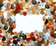 Edelsteine auf einem weißen Hintergrund Stockfoto