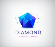 EDELSTEINform-Logoelement der modischen flachen Designfacette Kristall lizenzfreie abbildung