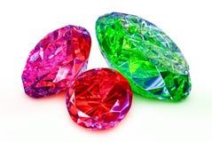 Edelstenen, juwelen op een witte achtergrond worden geïsoleerd die Royalty-vrije Stock Foto