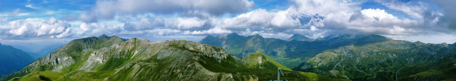 edelweispitze panoramatic视图 免版税库存图片