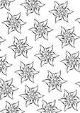 Edelweiss pattern. Royalty Free Stock Photography