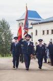 Eden av kadetter av kadettgrupperna i den Kaluga regionen av Ryssland på 10 September 2016 Royaltyfria Bilder